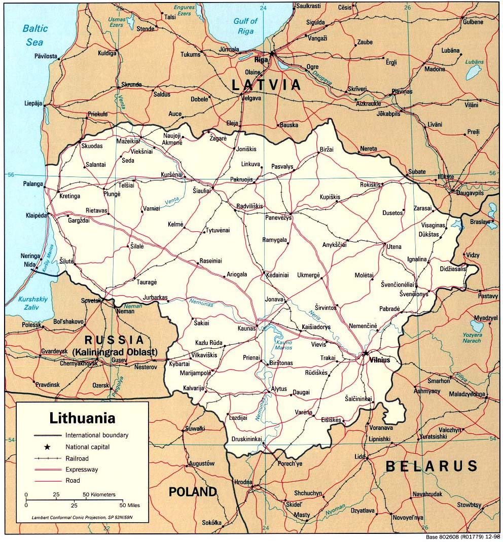 Maps of Lithuania Map Library Maps of the World