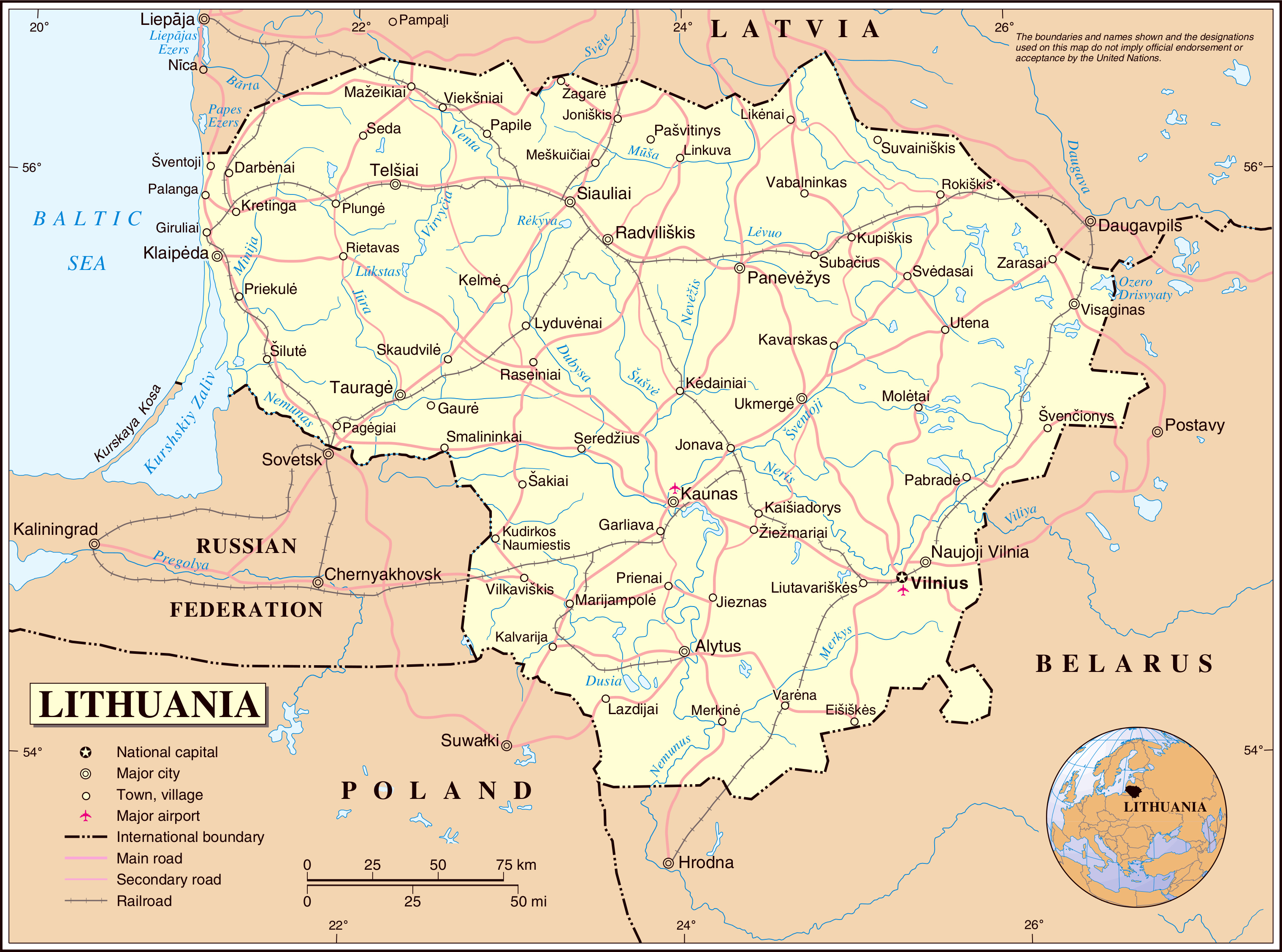 location of lithuania in world map #2, block diagram, location of lithuania in world map