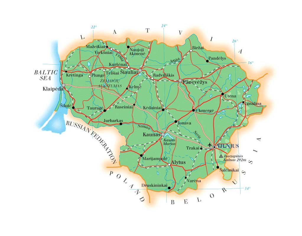 Maps Of Lithuania Map Library Maps Of The World - Lithuania map