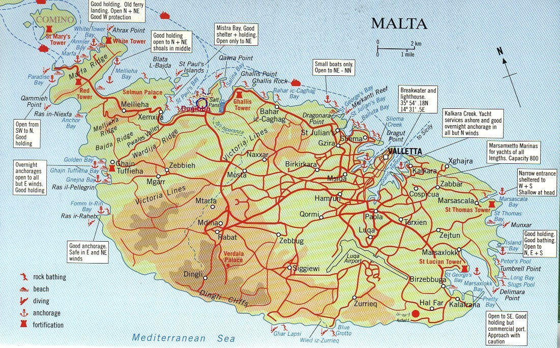Maps of malta map library maps of the world large road map of south malta gumiabroncs Gallery