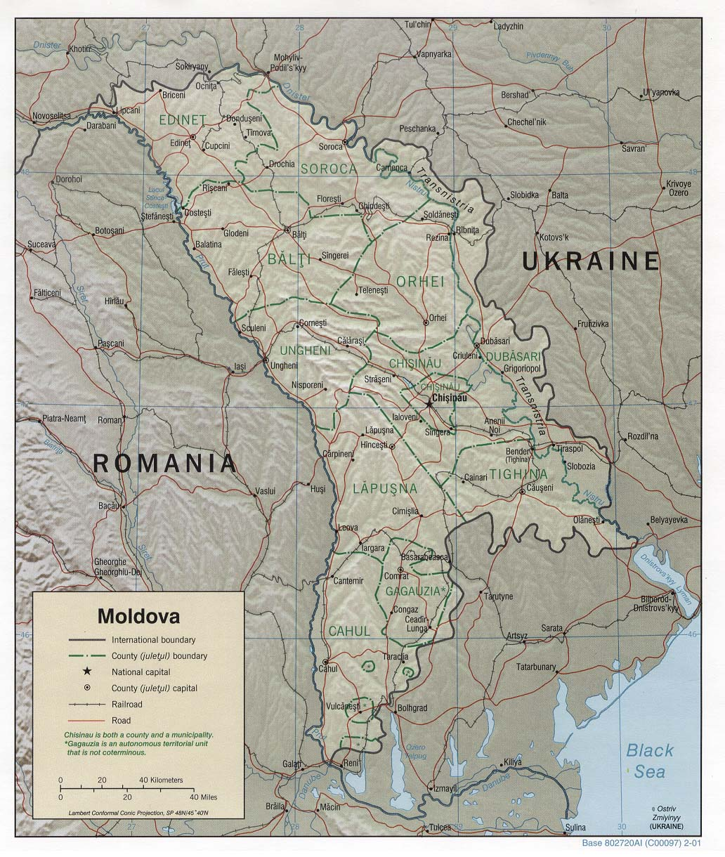 Maps of Moldova Map Library Maps of the World