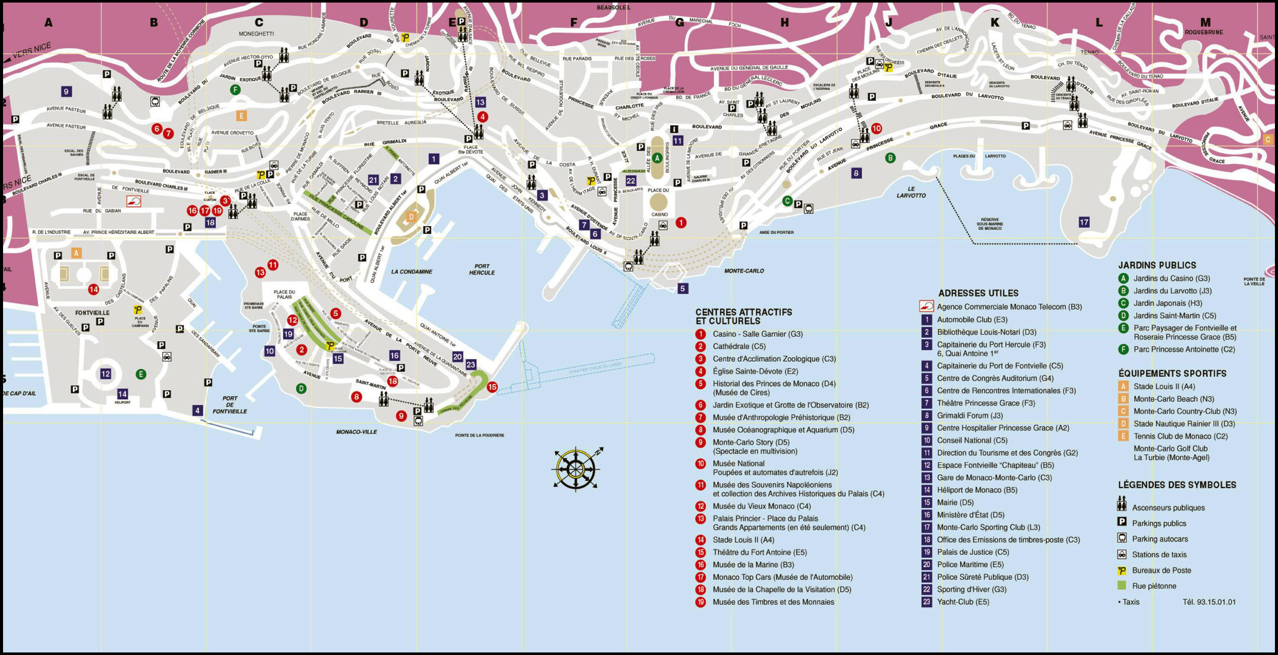 Maps of Monaco Map Library Maps of the World