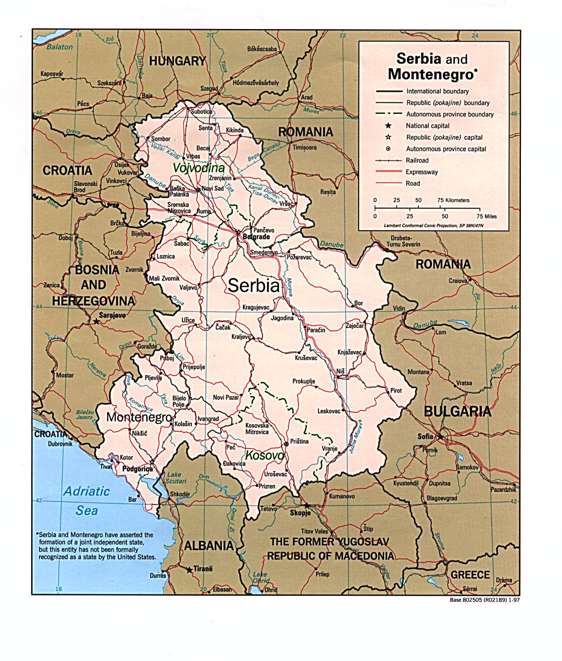 Maps of Montenegro Map Library Maps of the World