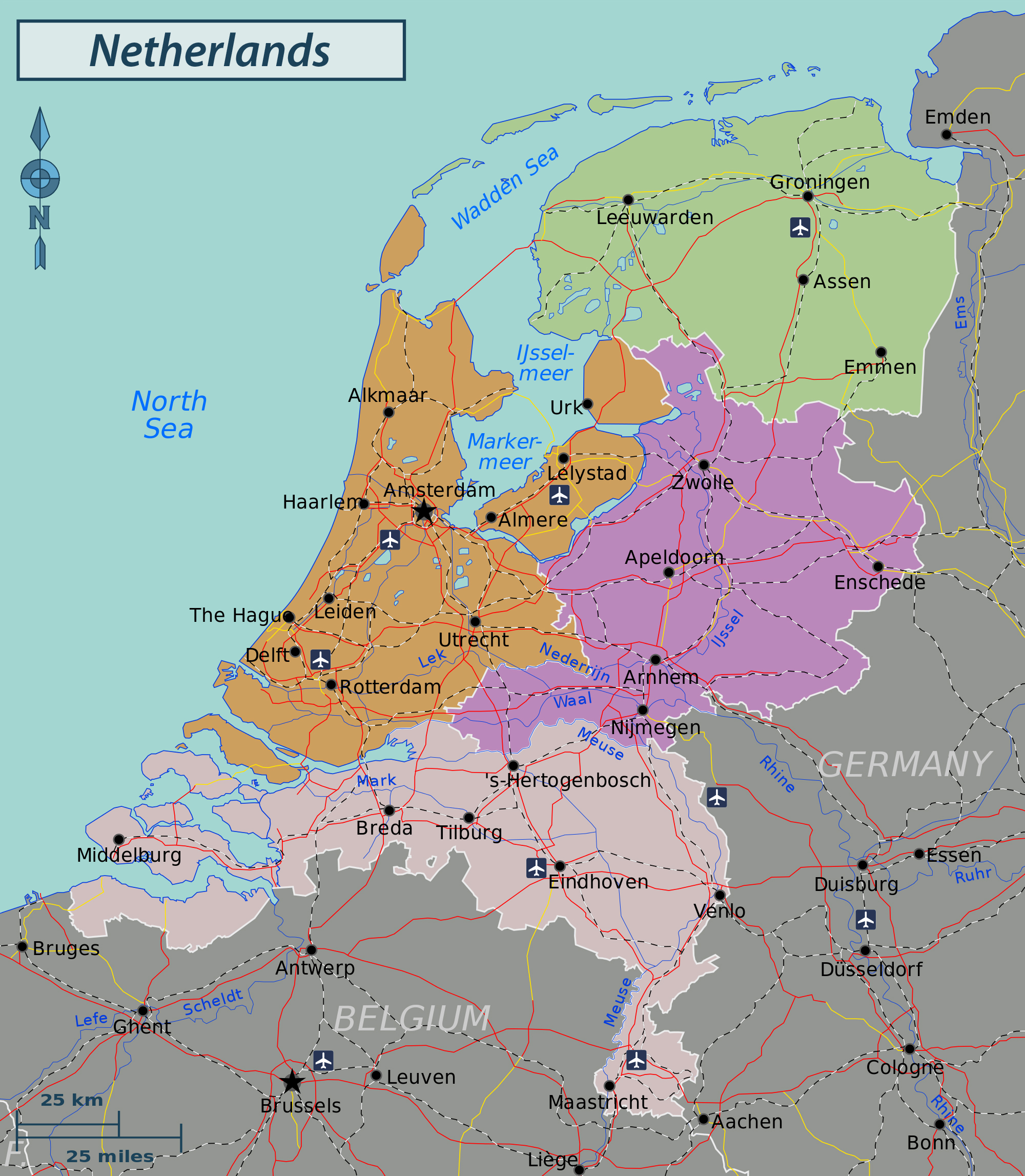 Maps of Netherlands Holland Map Library Maps