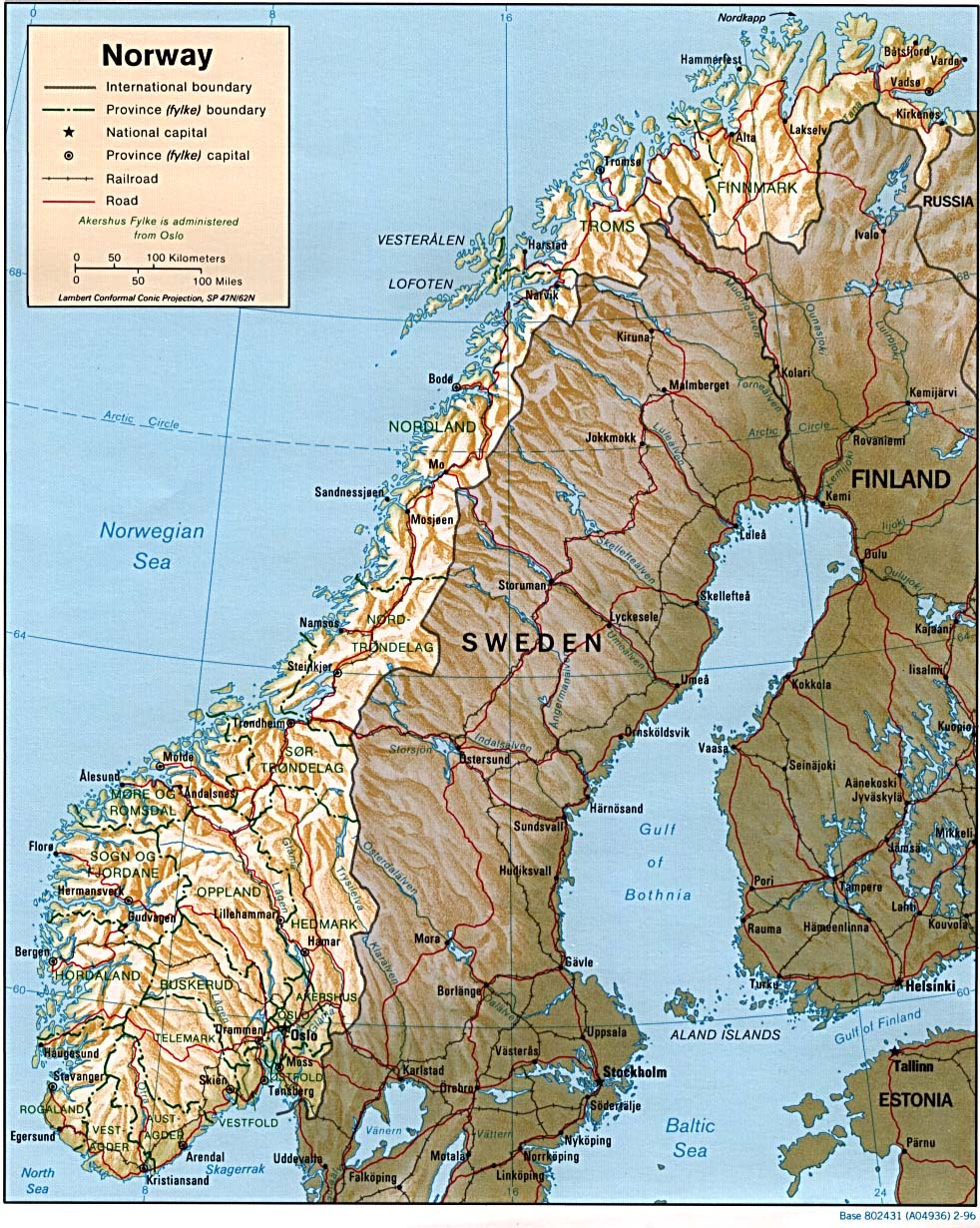 Maps of Norway Map Library Maps of the World