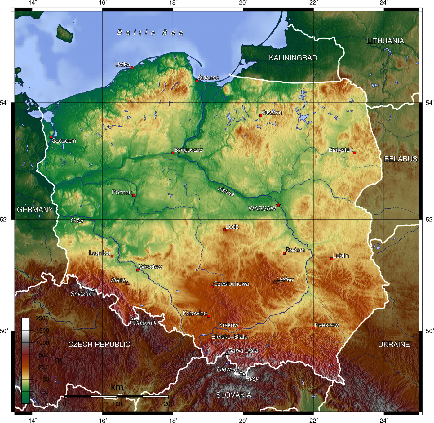 Maps of Poland Map Library Maps of the World