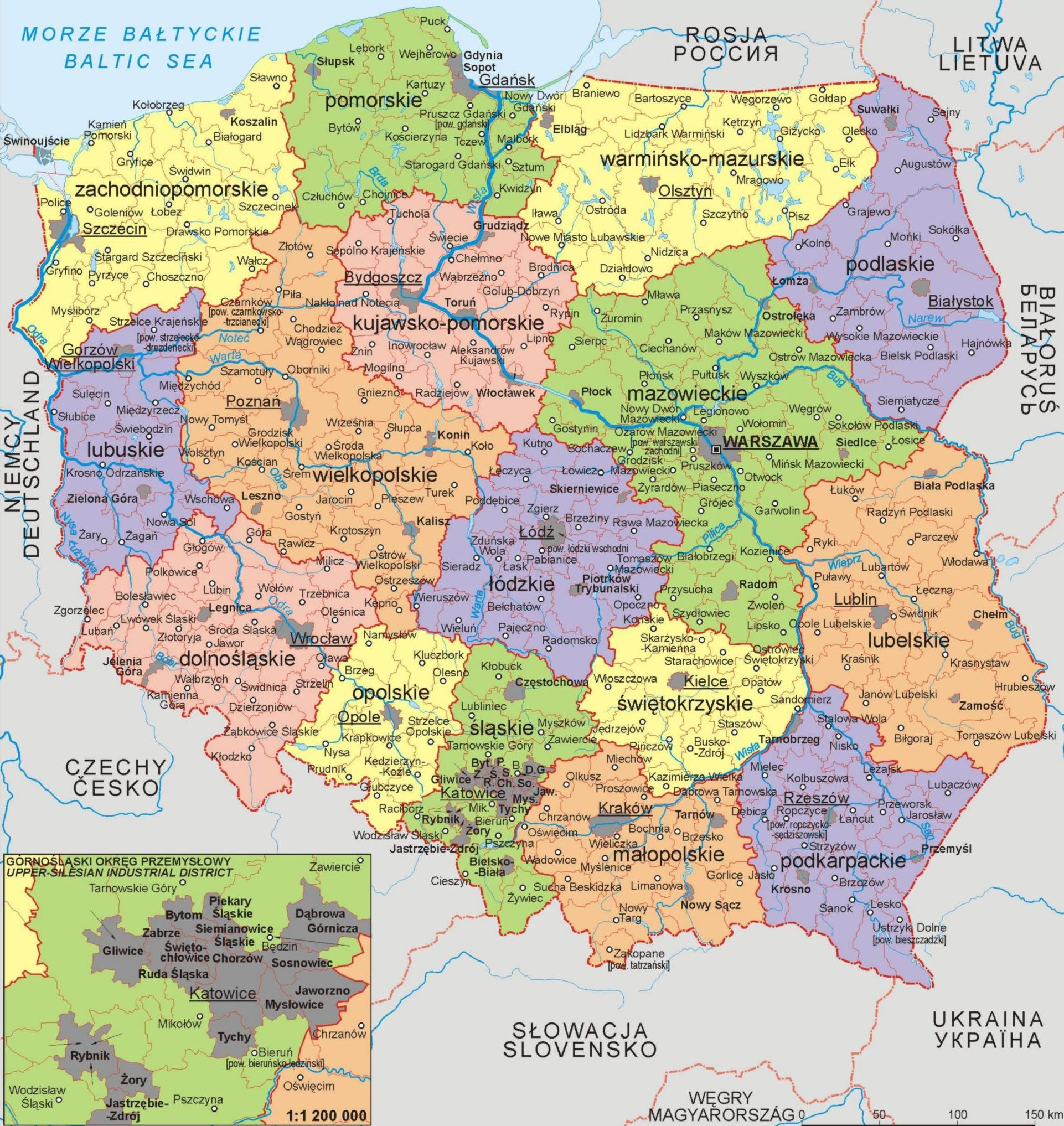 Maps Of Poland Map Library Maps Of The World - Poland political map