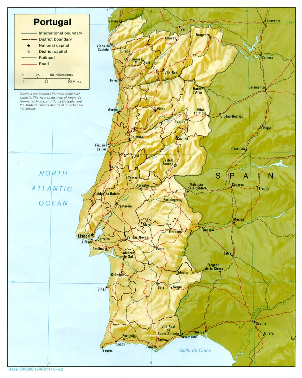 Maps Of Portugal Map Library Maps Of The World - Portugal physical map