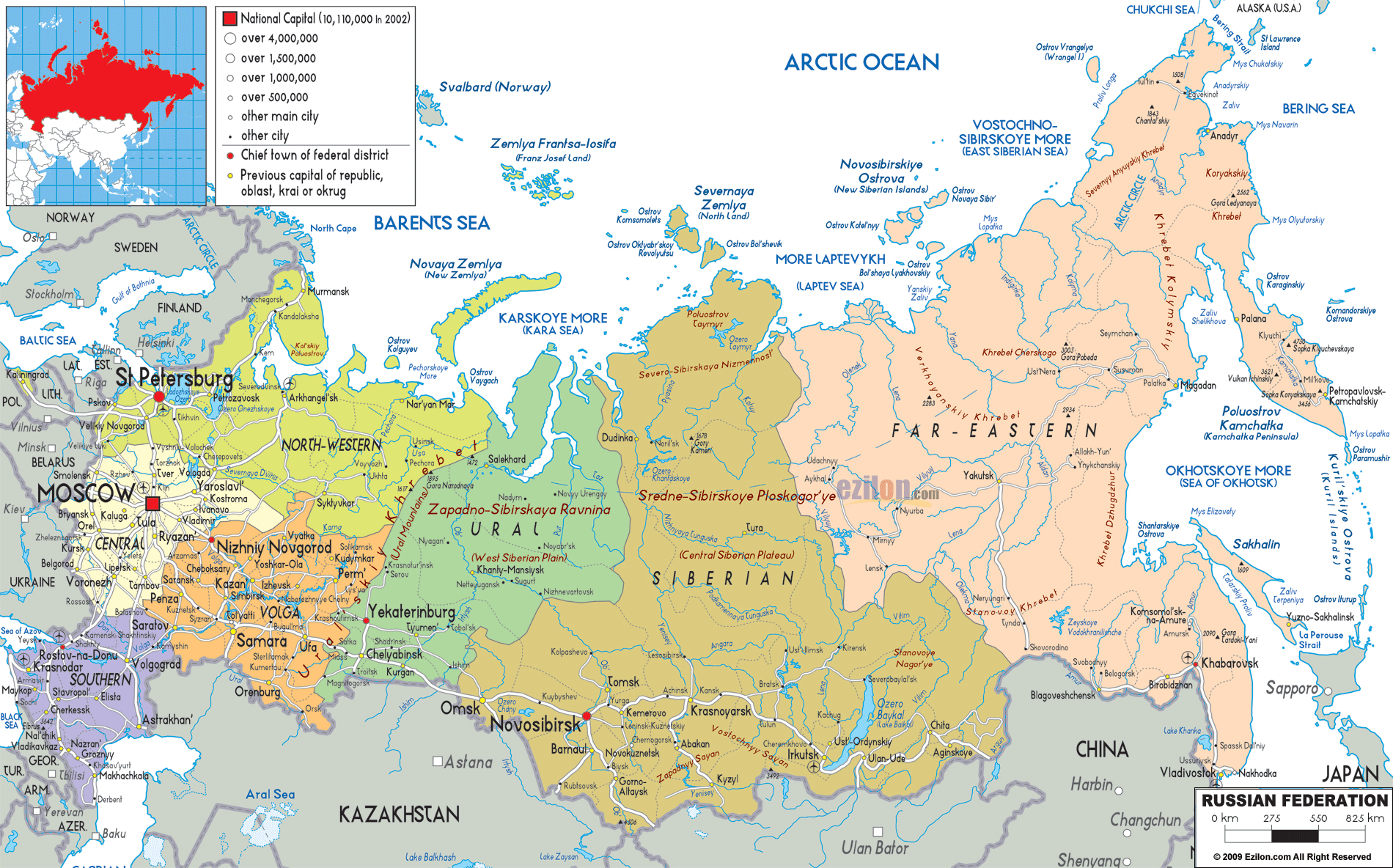 Maps Of Russia Map Library Maps Of The World - Map of russia with cities