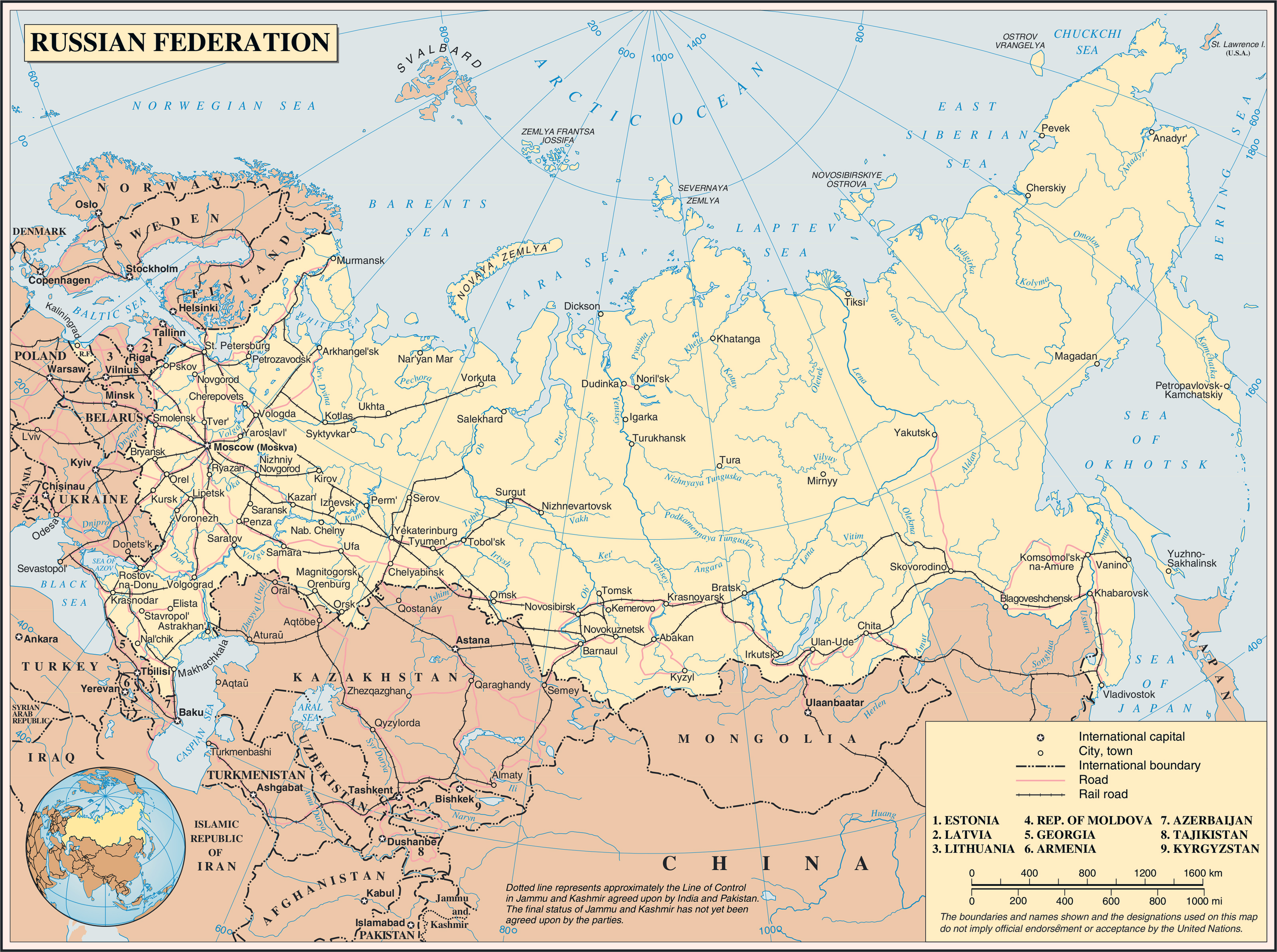 Maps of Russia Map Library Maps of the World