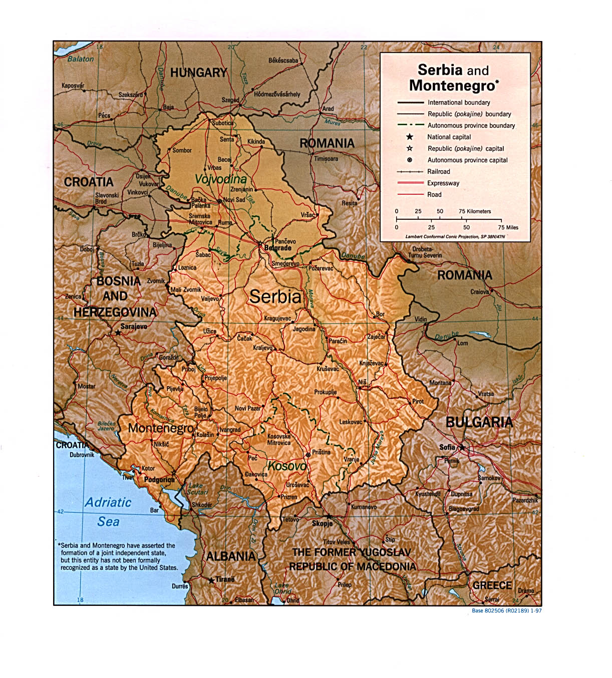 Maps of Serbia Map Library Maps of the World