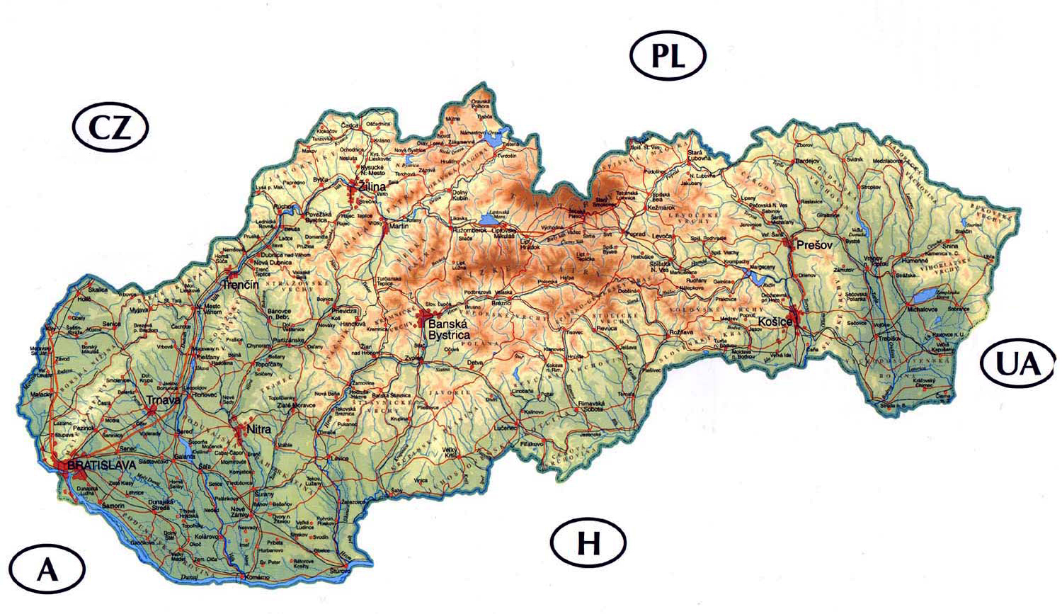 Maps of Slovakia Map Library Maps of the World