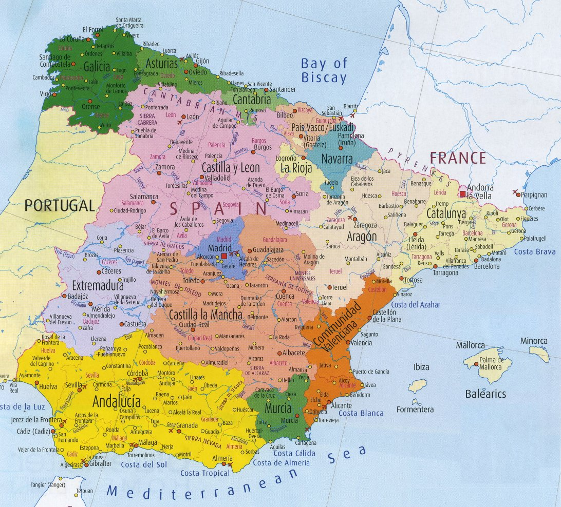 World Map Of Spain.Maps Of Spain Map Library Maps Of The World