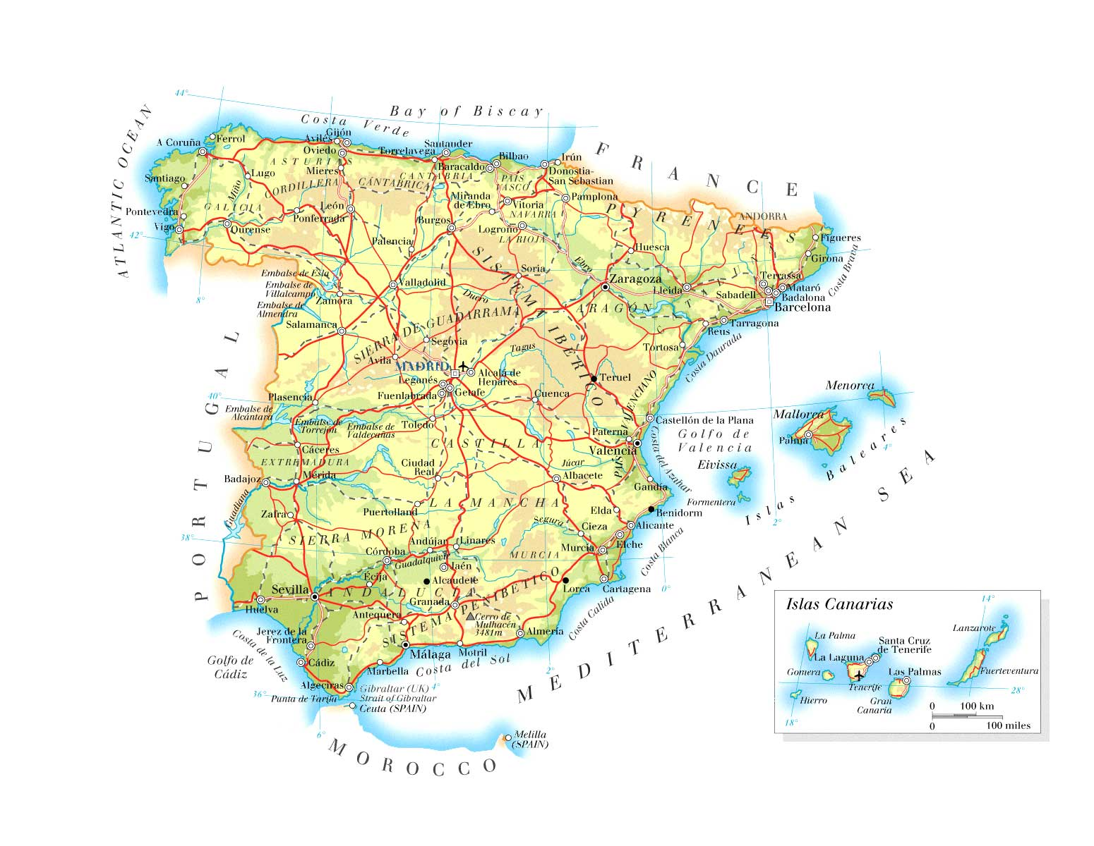 Maps of Spain | Map Library | Maps of the World