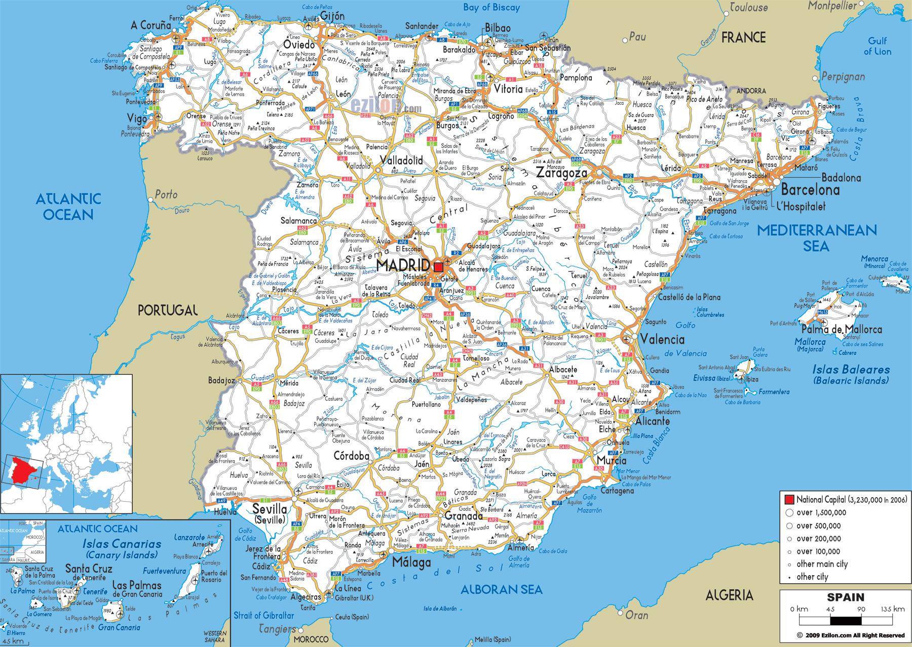 Maps of Spain Map Library Maps of the World