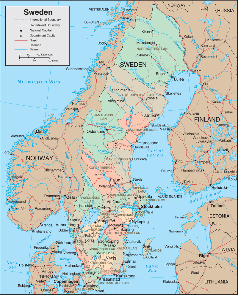 Maps Of Sweden Map Library Maps Of The World - Sweden map halmstad