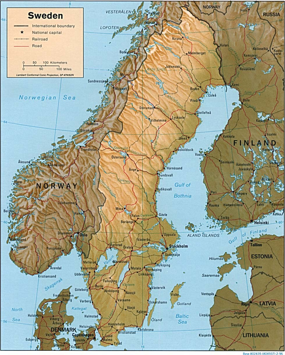 Maps of Sweden Map Library Maps of the World