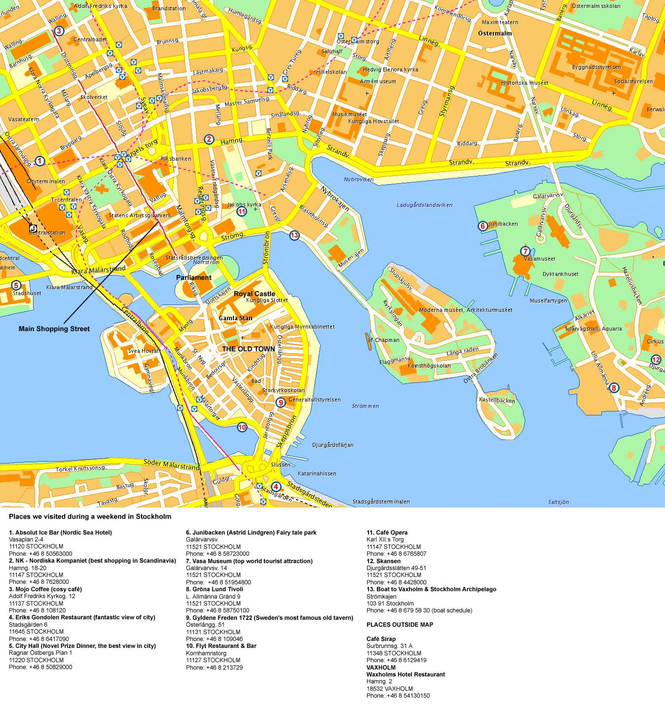 Maps of sweden map library maps of the world large detailed tourist map of stockholm city center publicscrutiny Image collections
