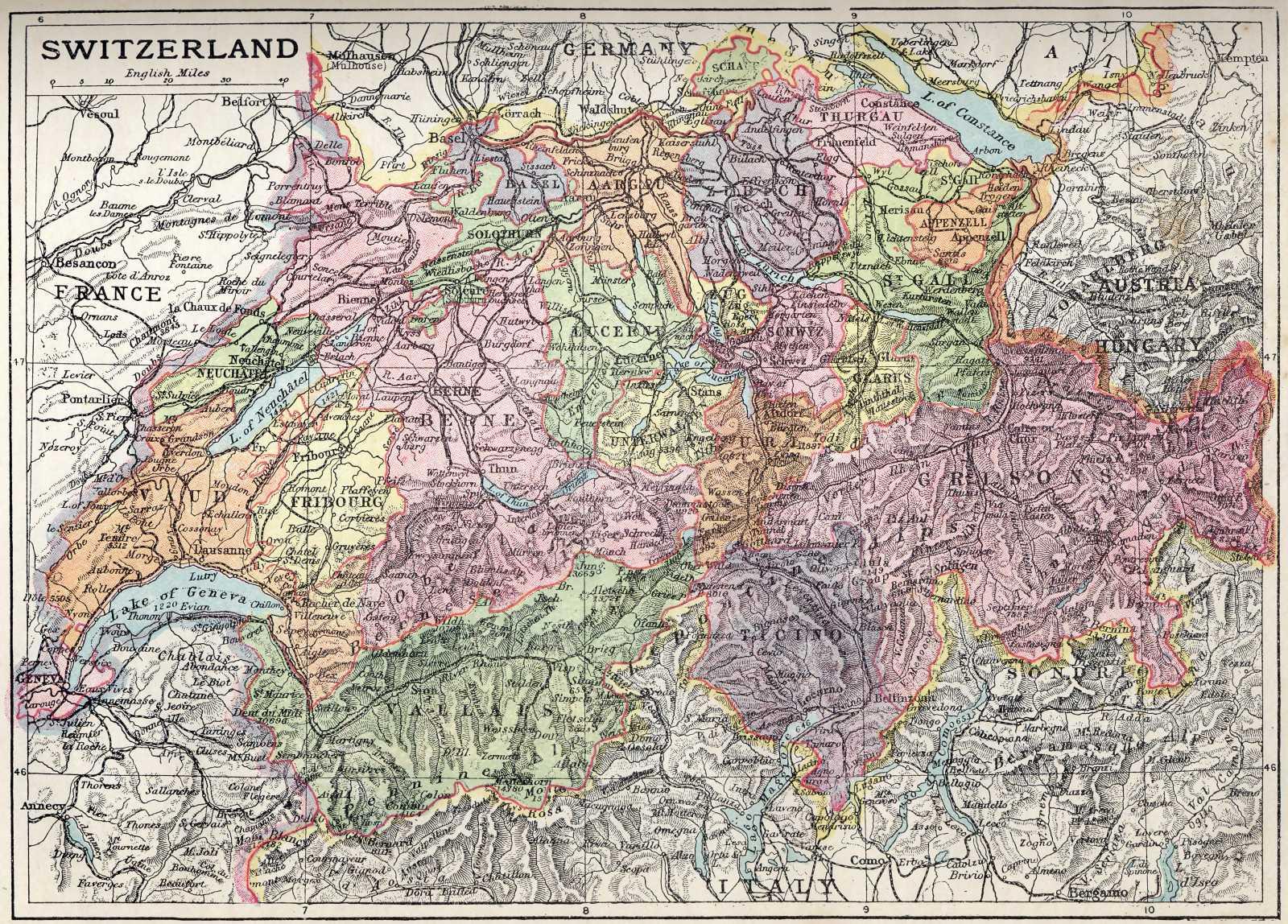 Maps: Maps Of Switzerland