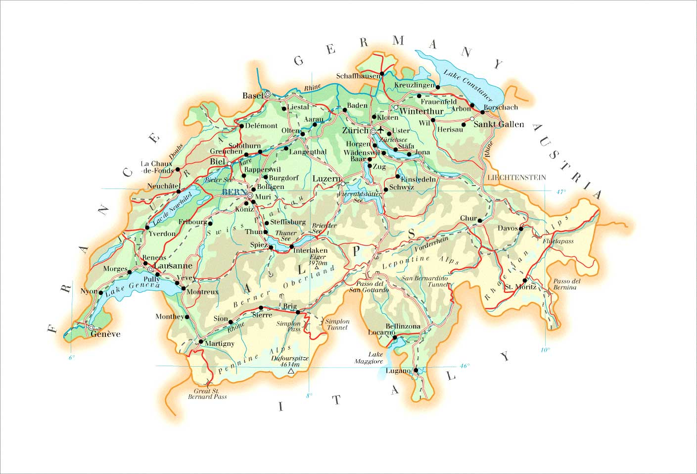 Maps of Switzerland | Map Library | Maps of the World