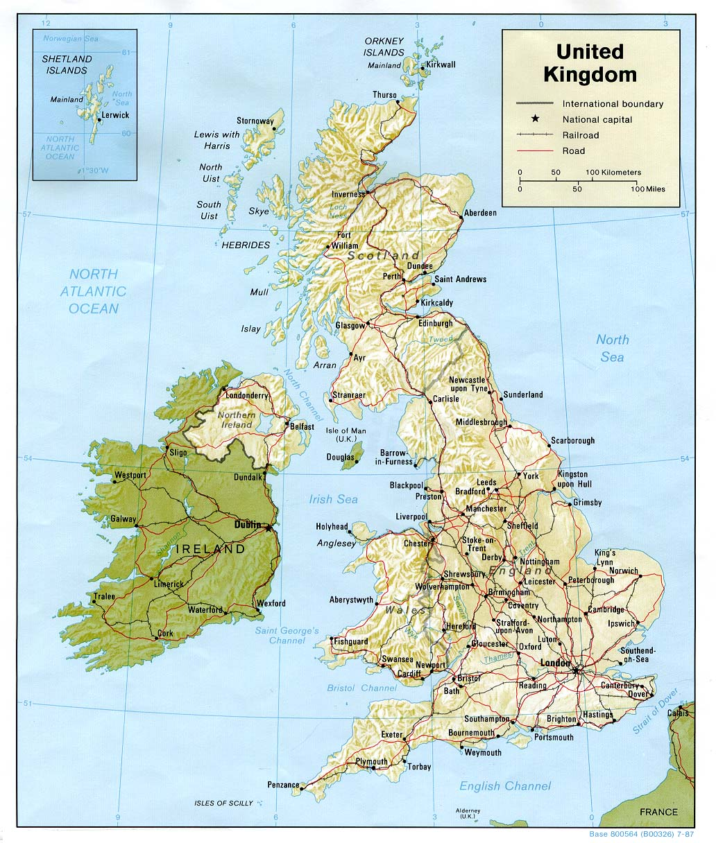 Map Of Uk Roads.Maps Of United Kingdom Of Great Britain And Northern Ireland Map