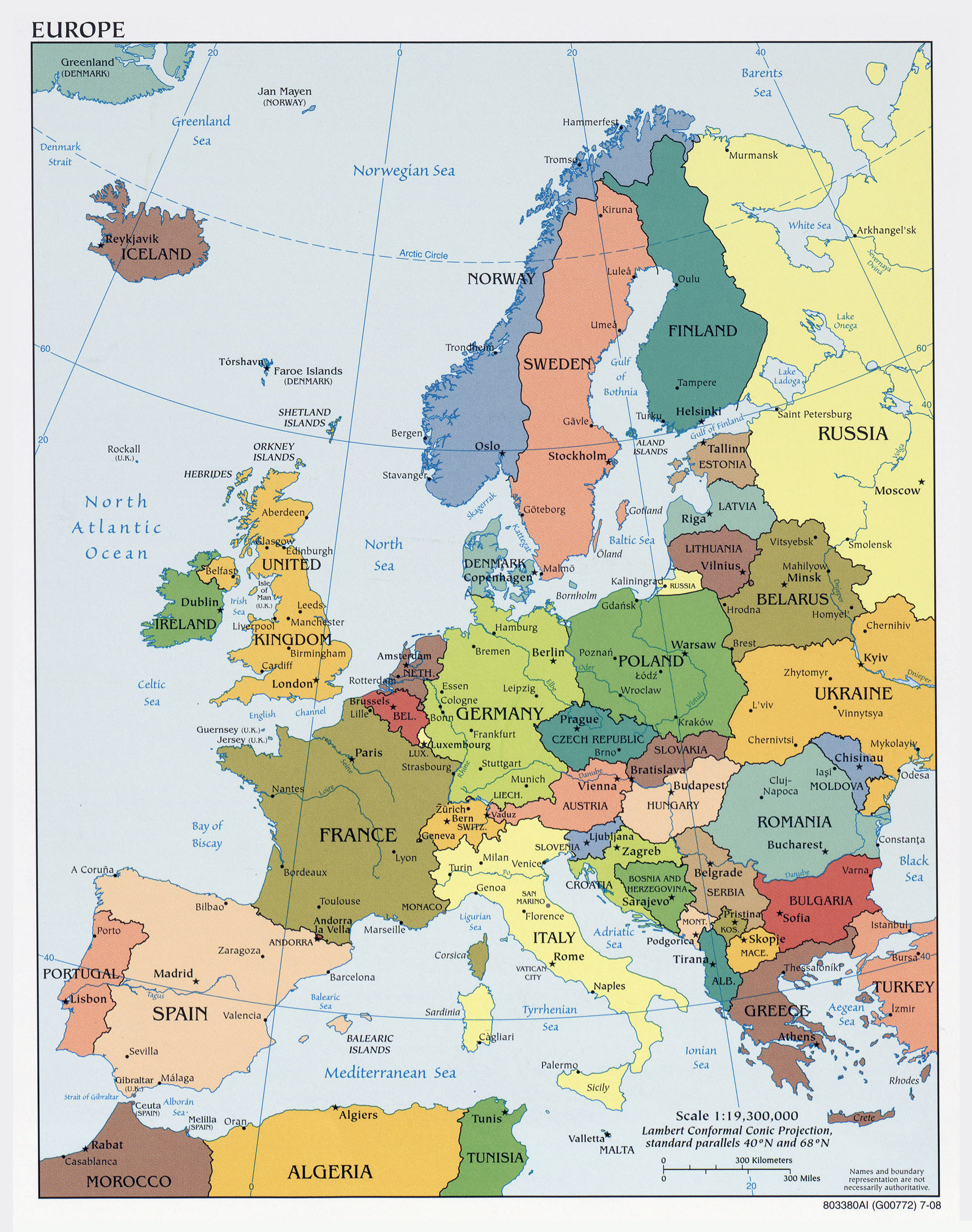 Maps of Europe Map Library Maps of the World