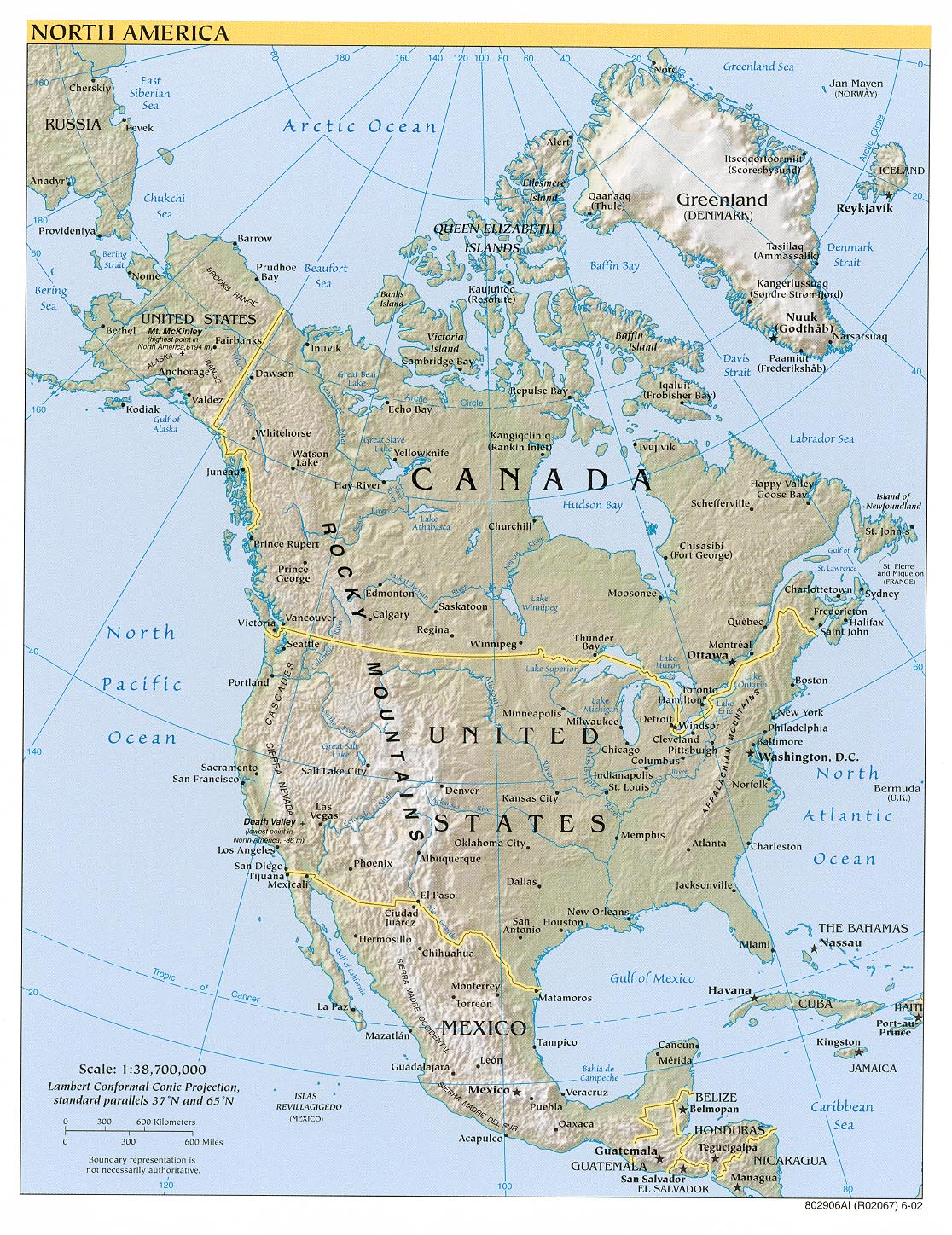 Maps of North America Map Library Maps of the World