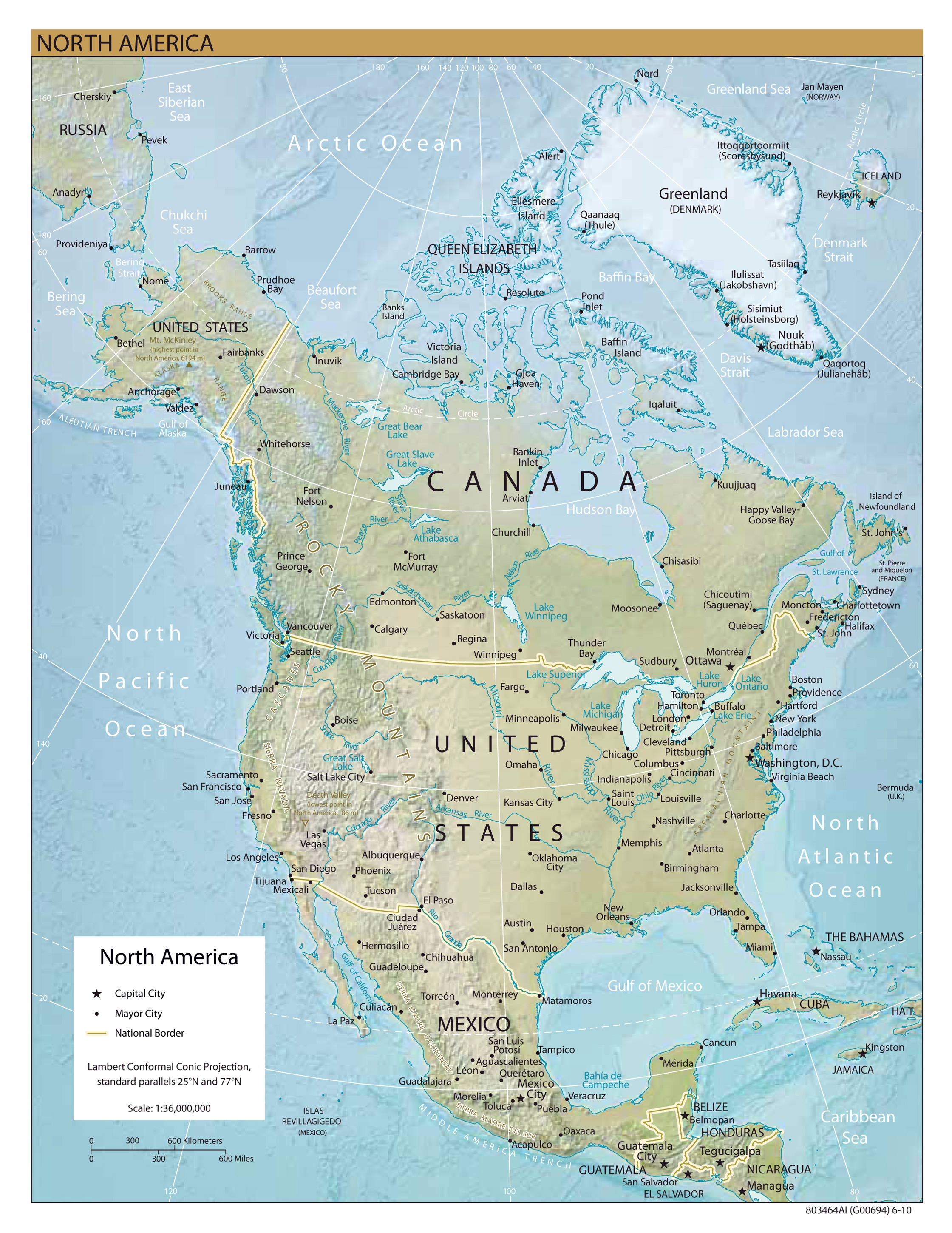 Maps of north america map library maps of the world large detailed relief map of north america publicscrutiny Choice Image