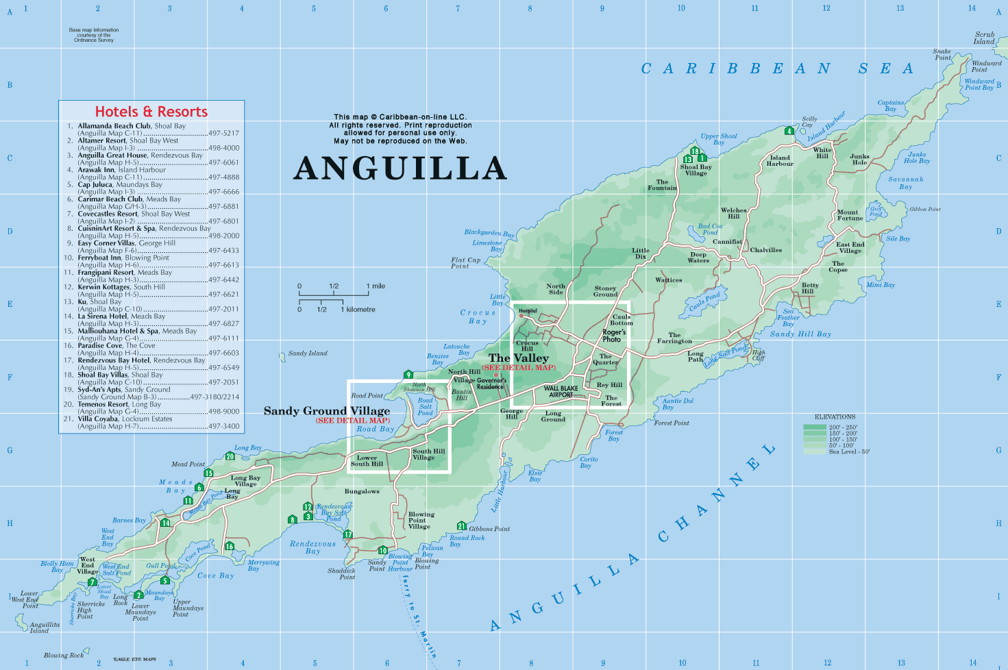 Maps of Anguilla Map Library Maps of the World