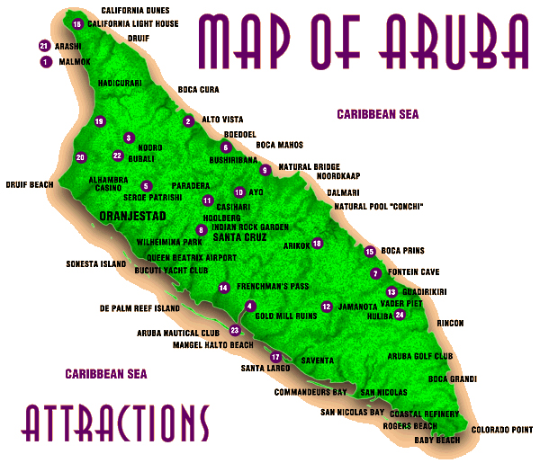 Maps of Aruba Map Library Maps of the World
