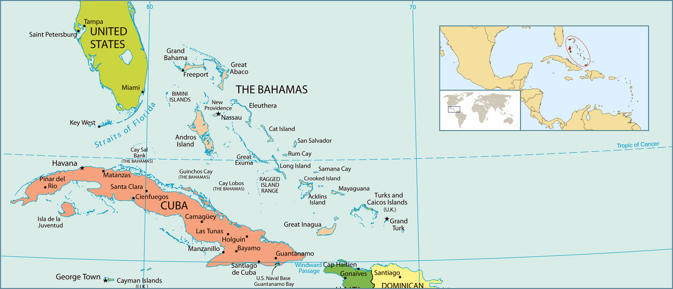 Maps of Bahamas Map Library Maps of the World