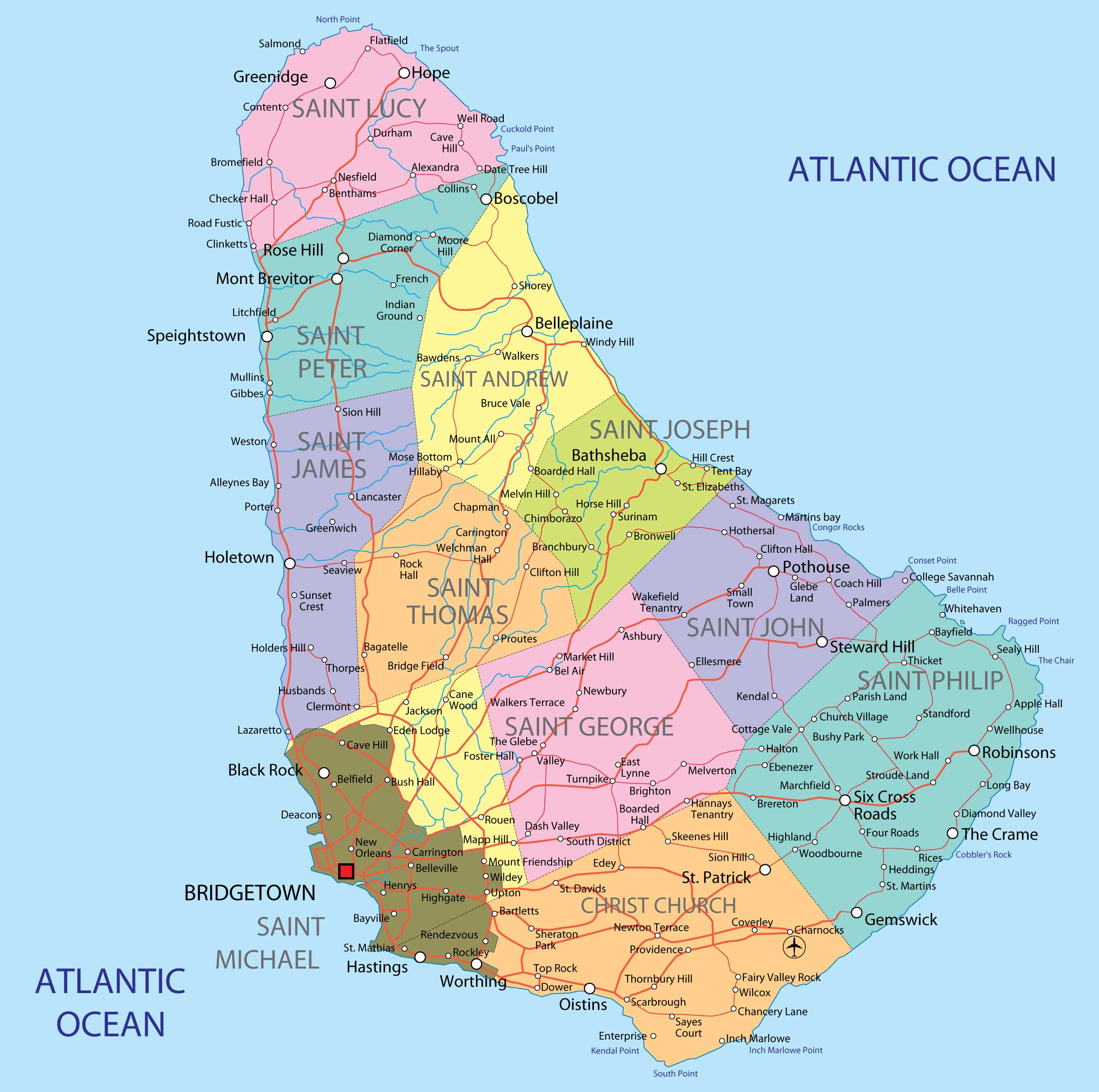 Maps Of Barbados Map Library Maps Of The World - Tourist map of barbados