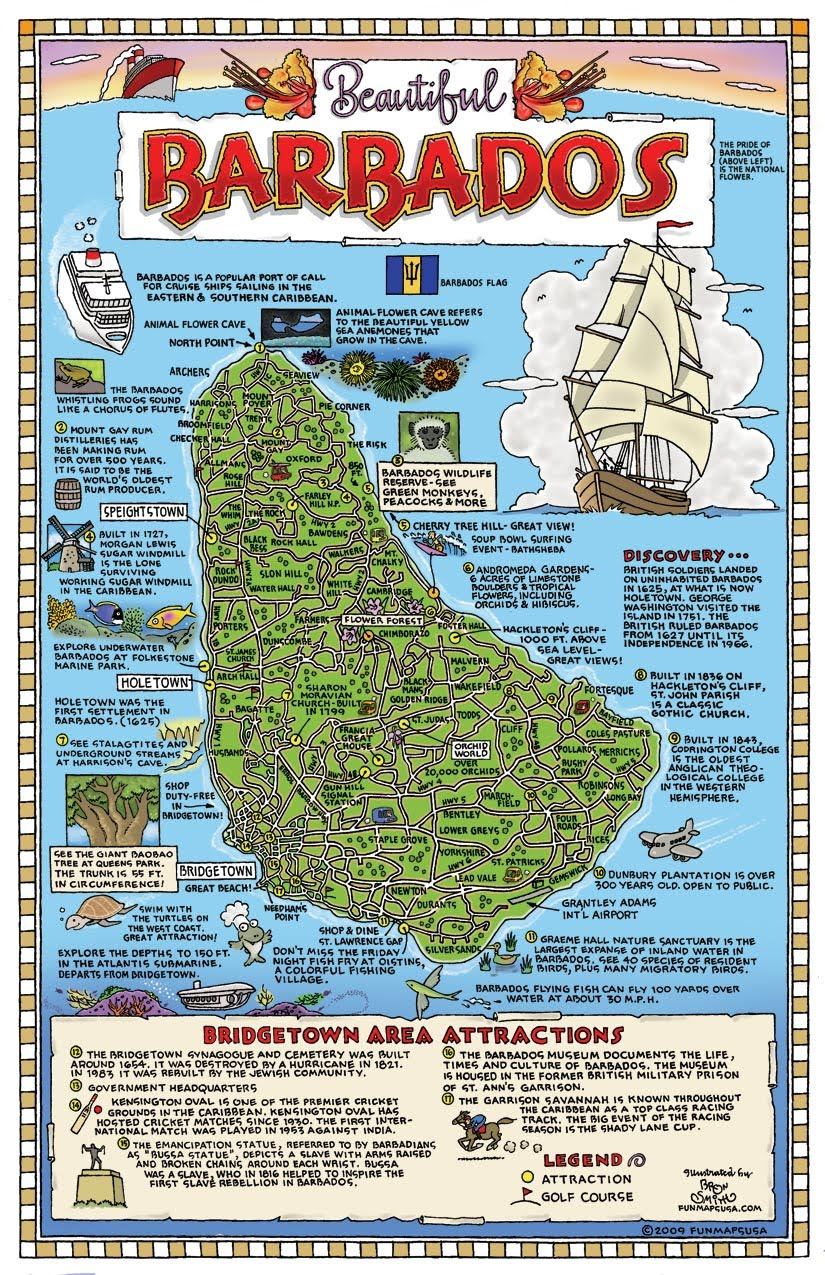 Maps of Barbados Map Library Maps of the World