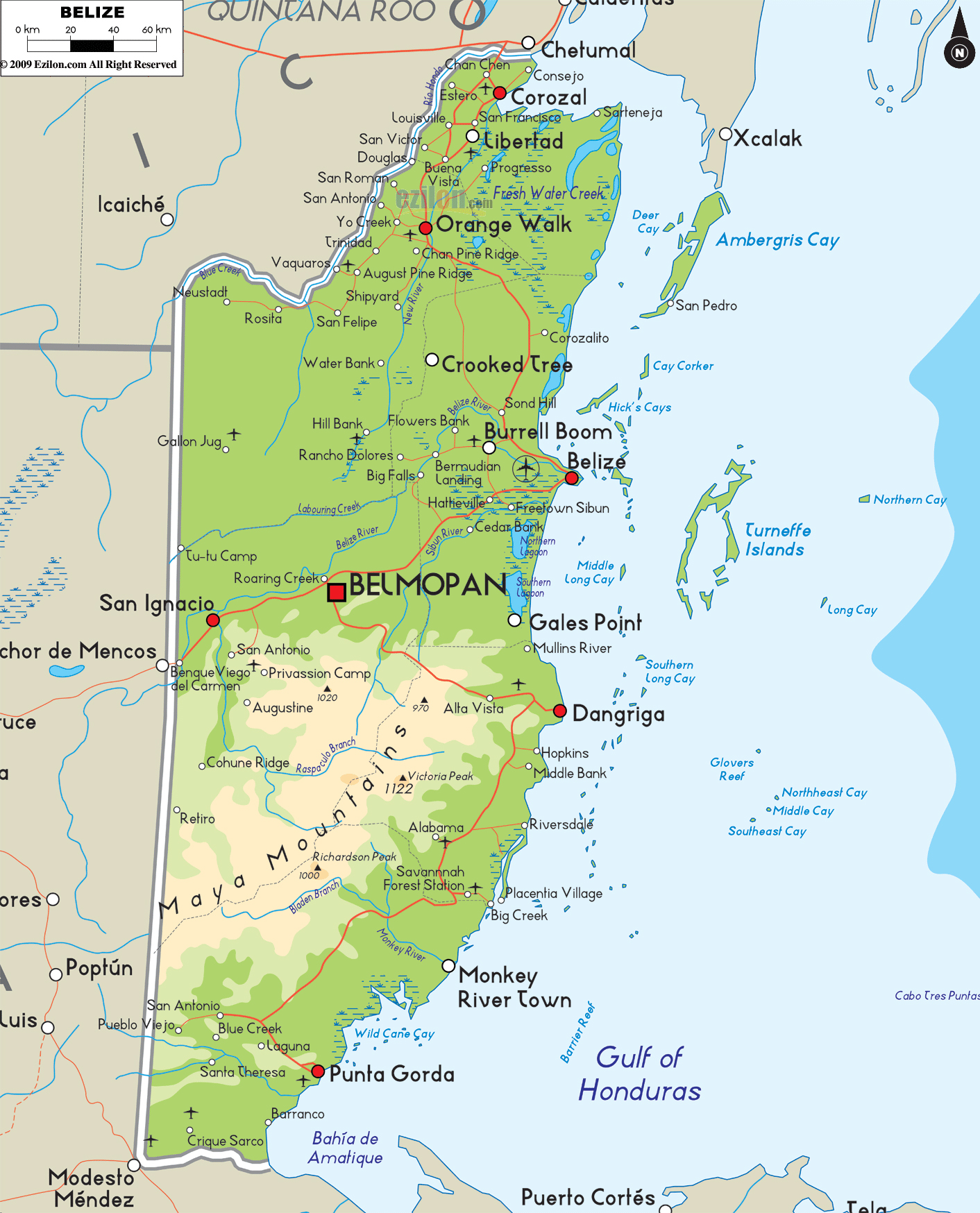 Maps of Belize Map Library Maps of the World