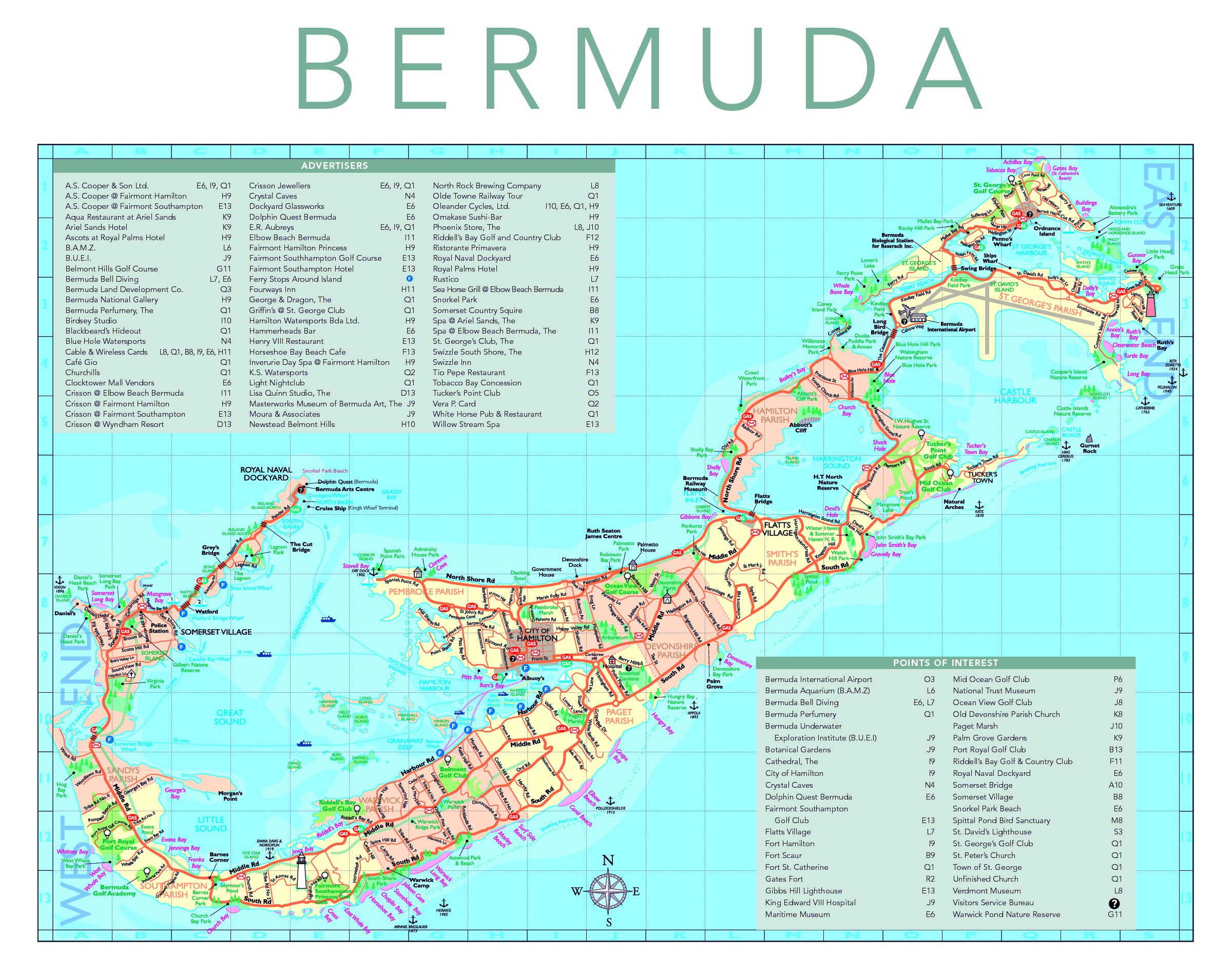 Map Map Of East Usa Map Of East Coast Of Usa And Bermuda Map Of - Bermuda islands map