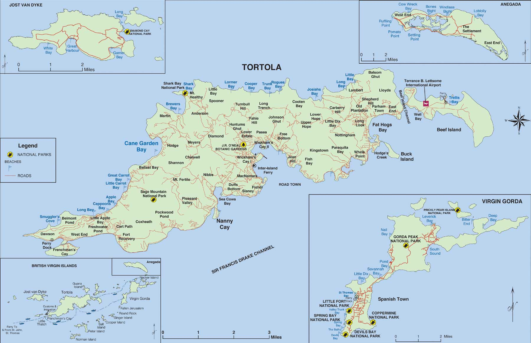 Maps of British Virgin Islands  Map Library  Maps of the World