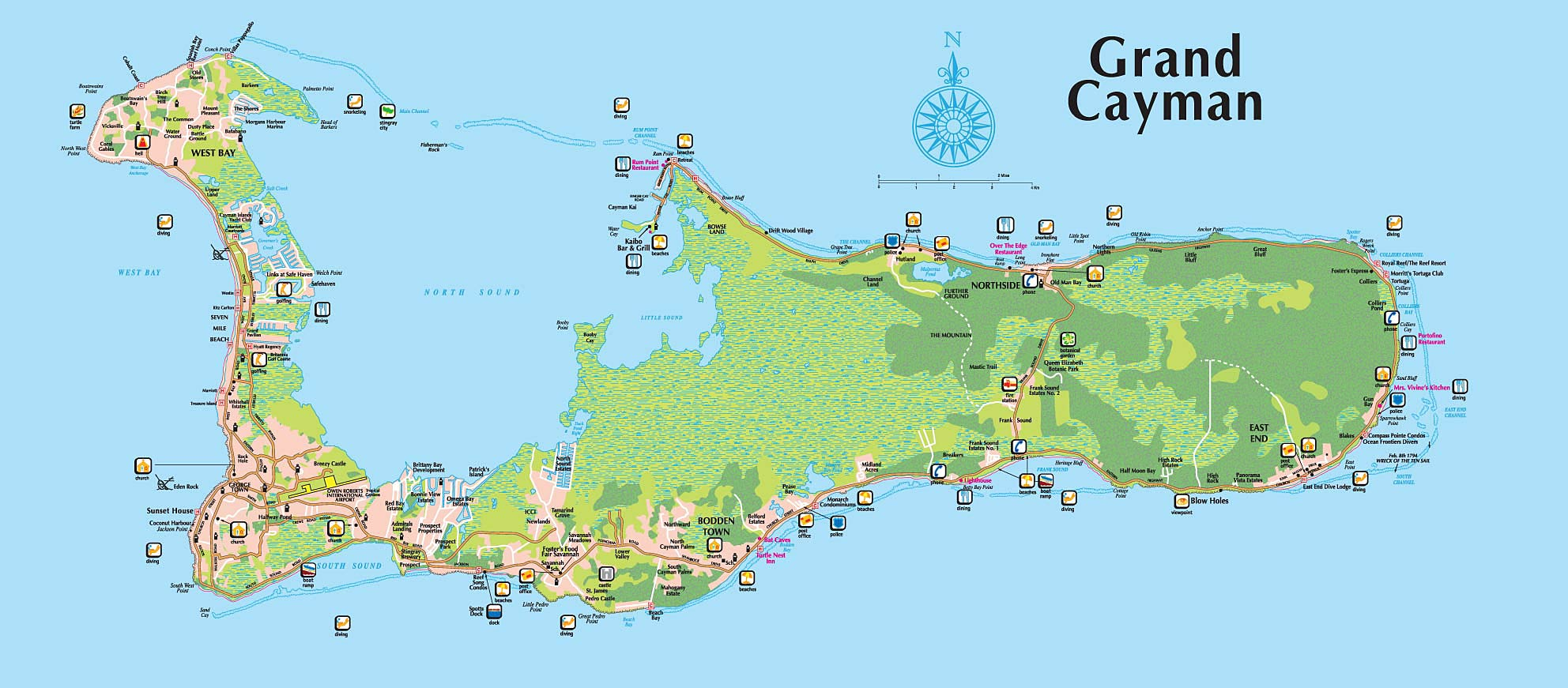 Maps of Cayman Islands Map Library Maps of the World