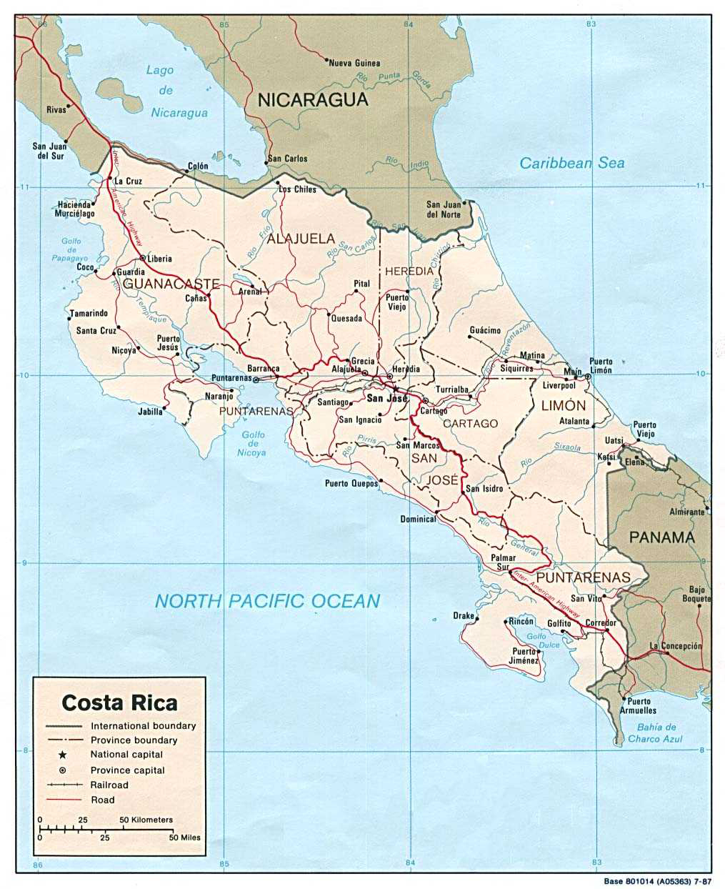 Maps of Costa Rica Map Library Maps of the World