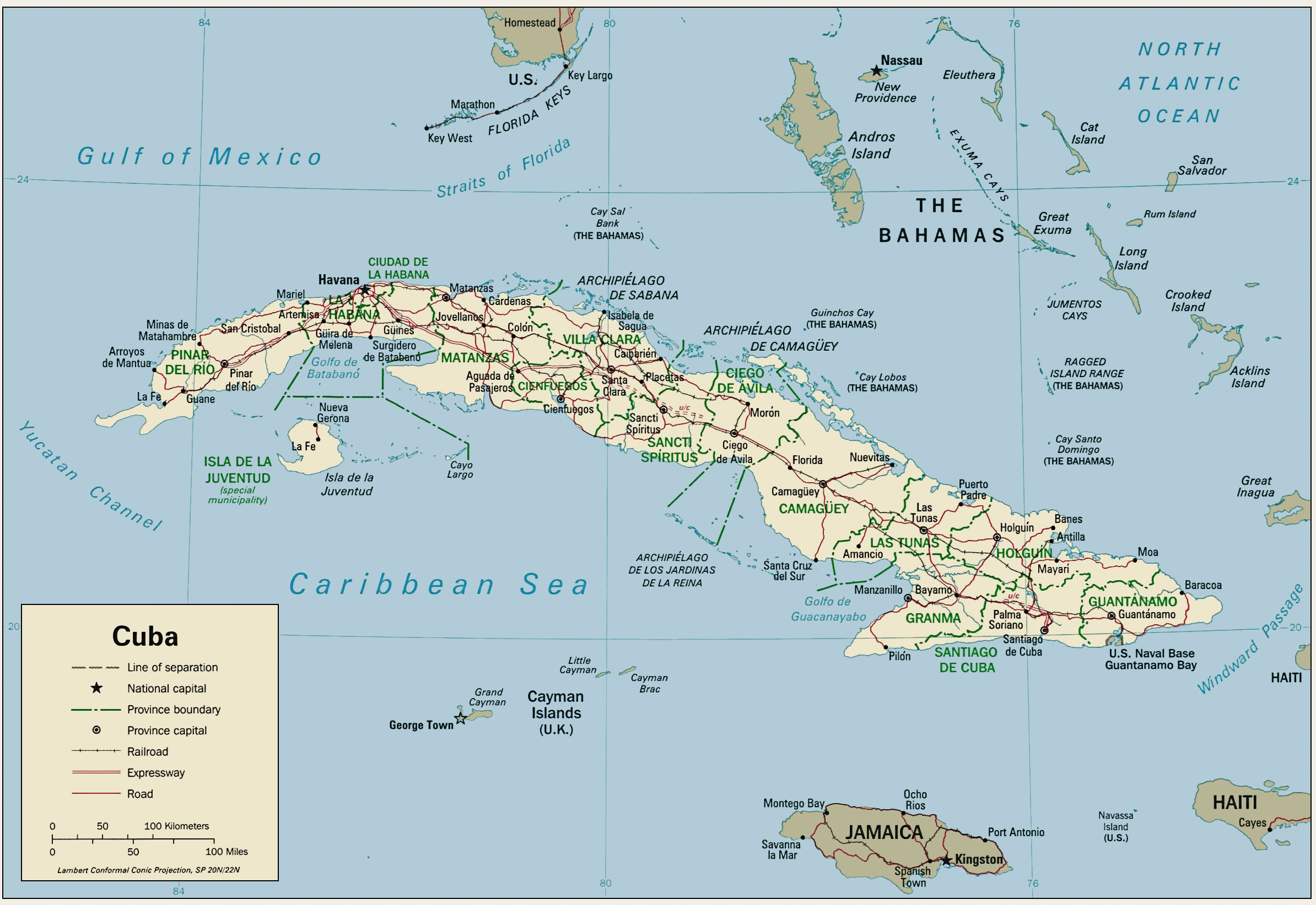 Maps Of Cuba Map Library Maps Of The World