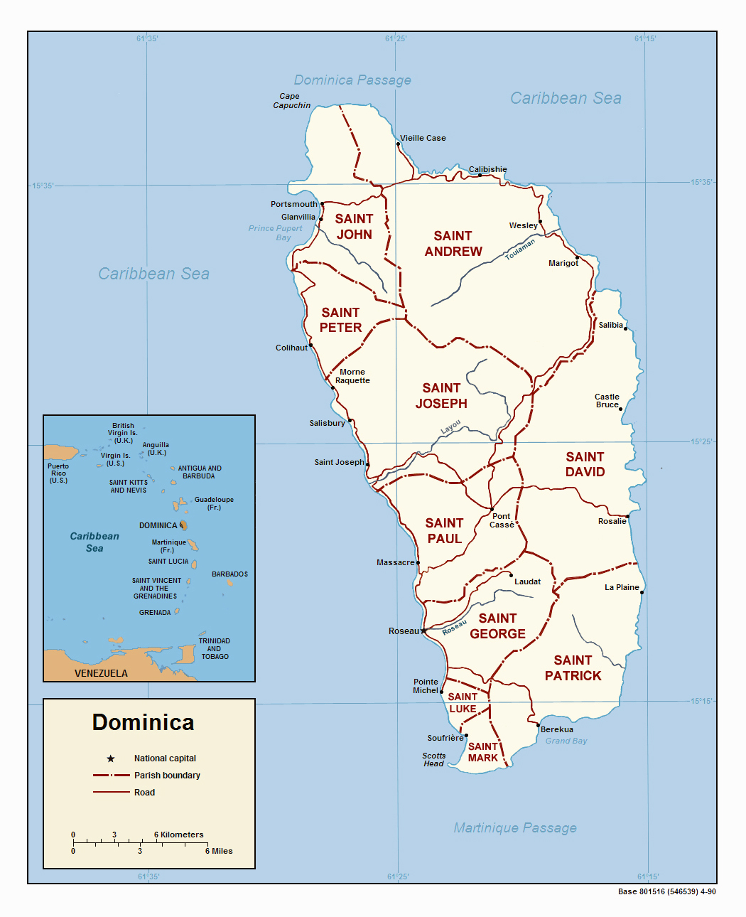 Maps of Dominica Map Library Maps of the World