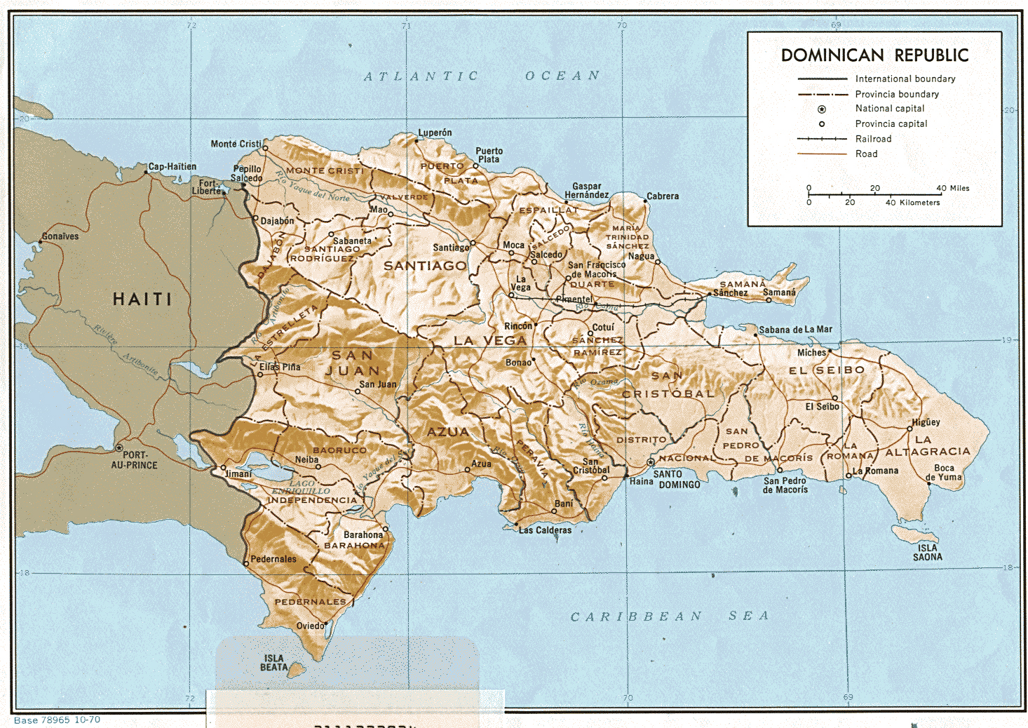 Maps of Dominican Dominican Republic Map Library Maps of the World