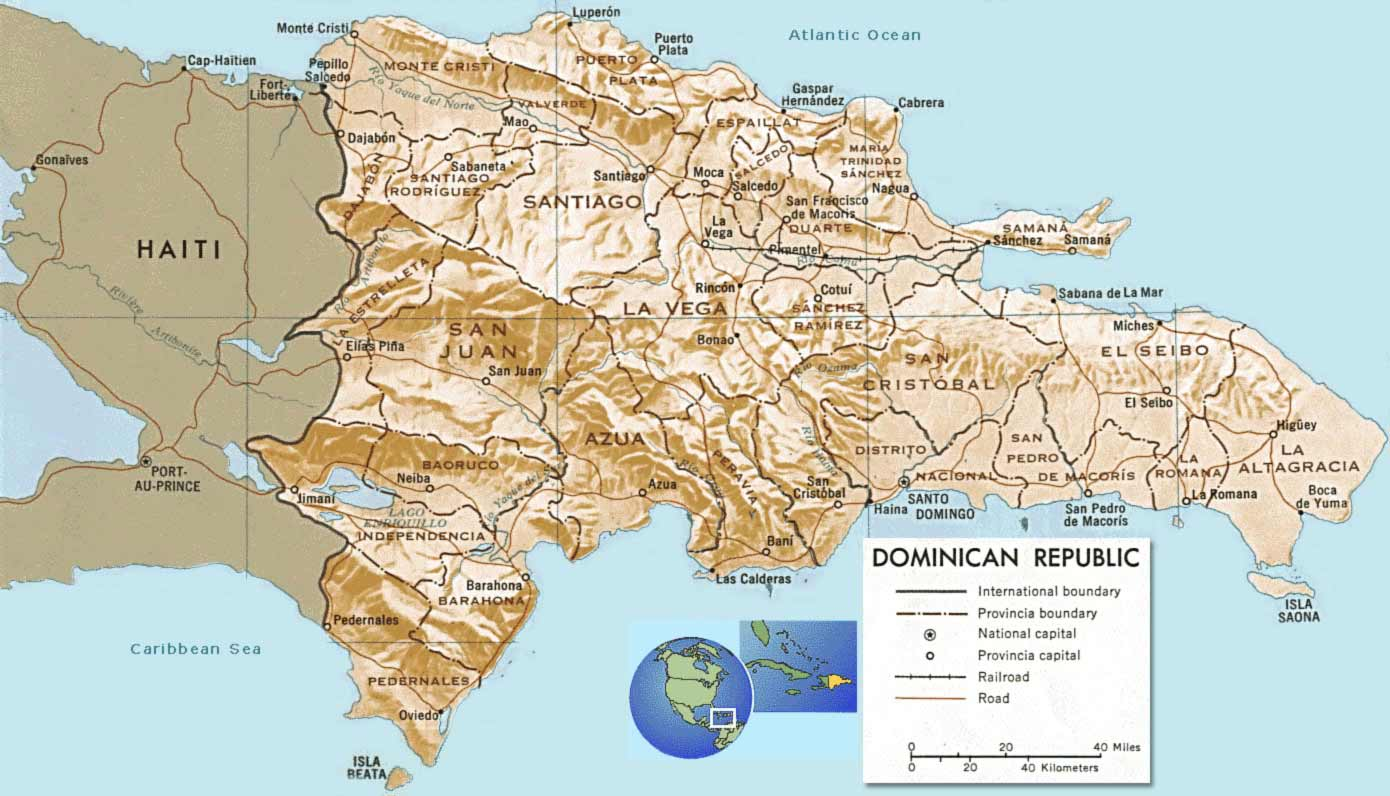 Maps of Dominican Dominican Republic  Map Library  Maps of the