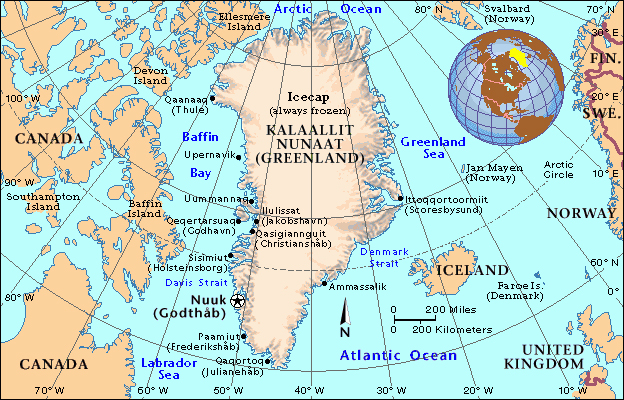 Maps of greenland map library maps of the world political map of greenland gumiabroncs Image collections