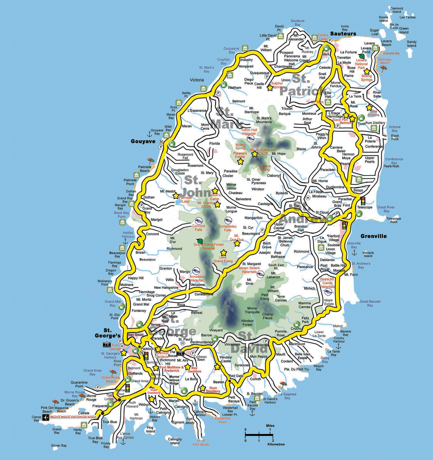 Maps of Grenada Map Library Maps of the World