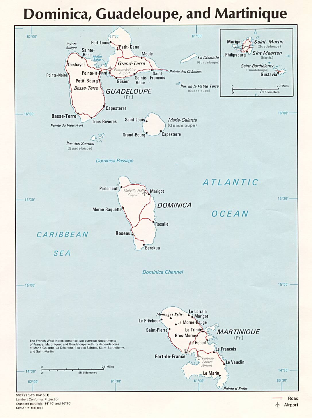 Maps of Guadeloupe Map Library Maps of the World