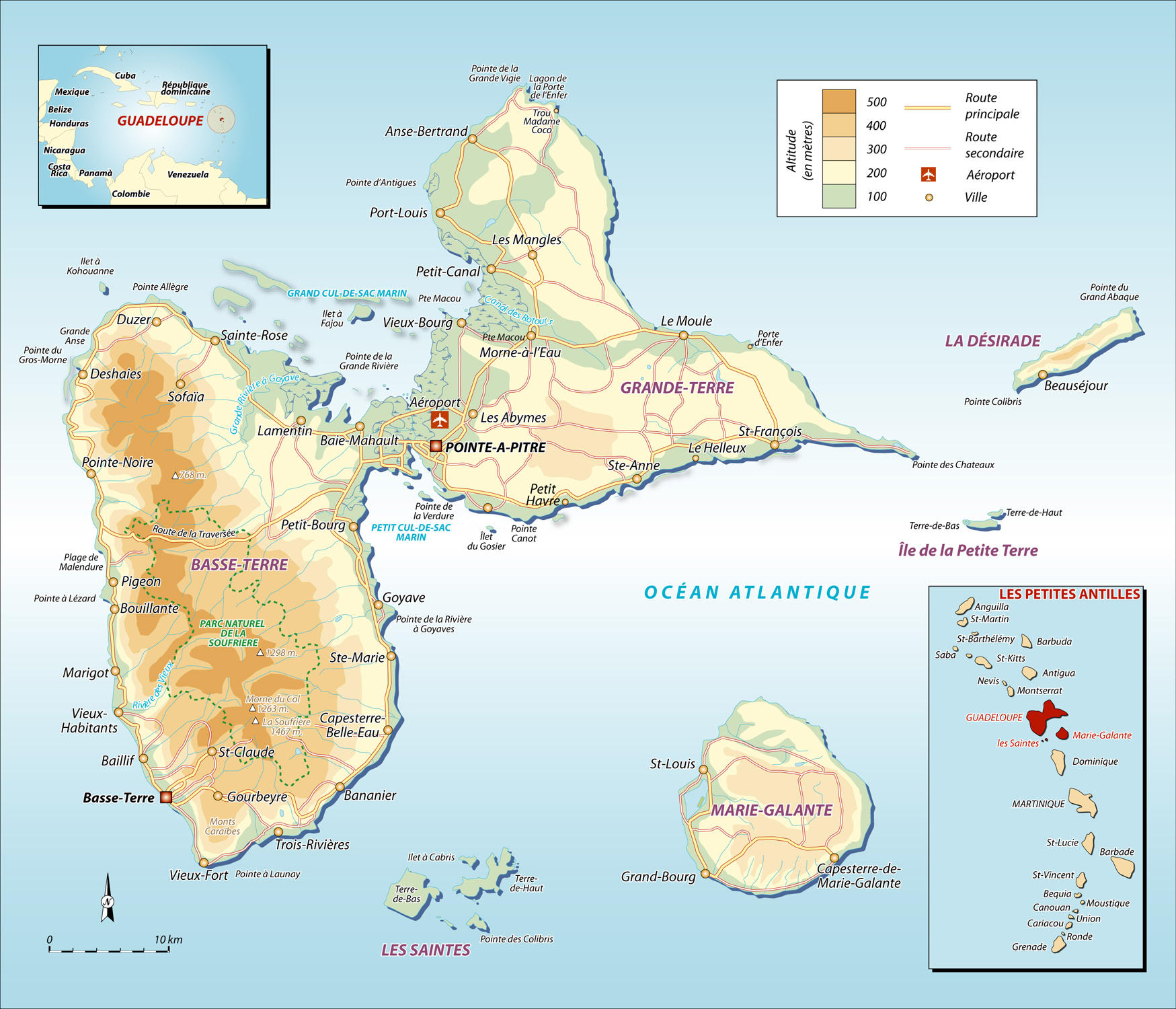 Maps of Guadeloupe | Map Library | Maps of the World