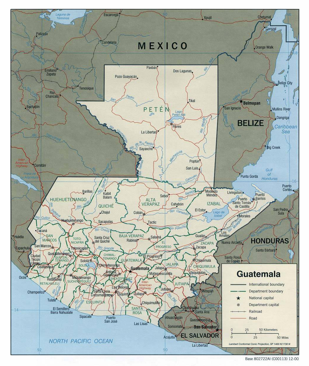 Maps of Guatemala Map Library Maps of the World