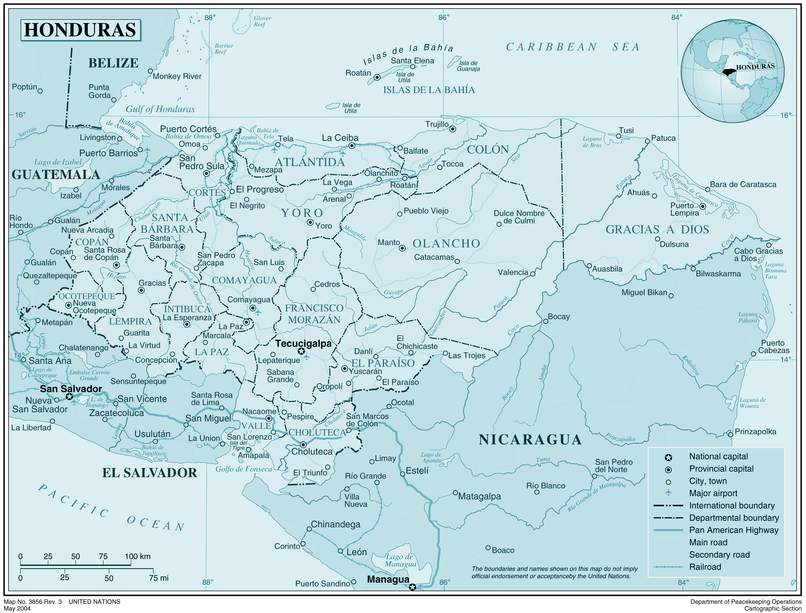 Maps Of Honduras Map Library Maps Of The World - Cities map of honduras