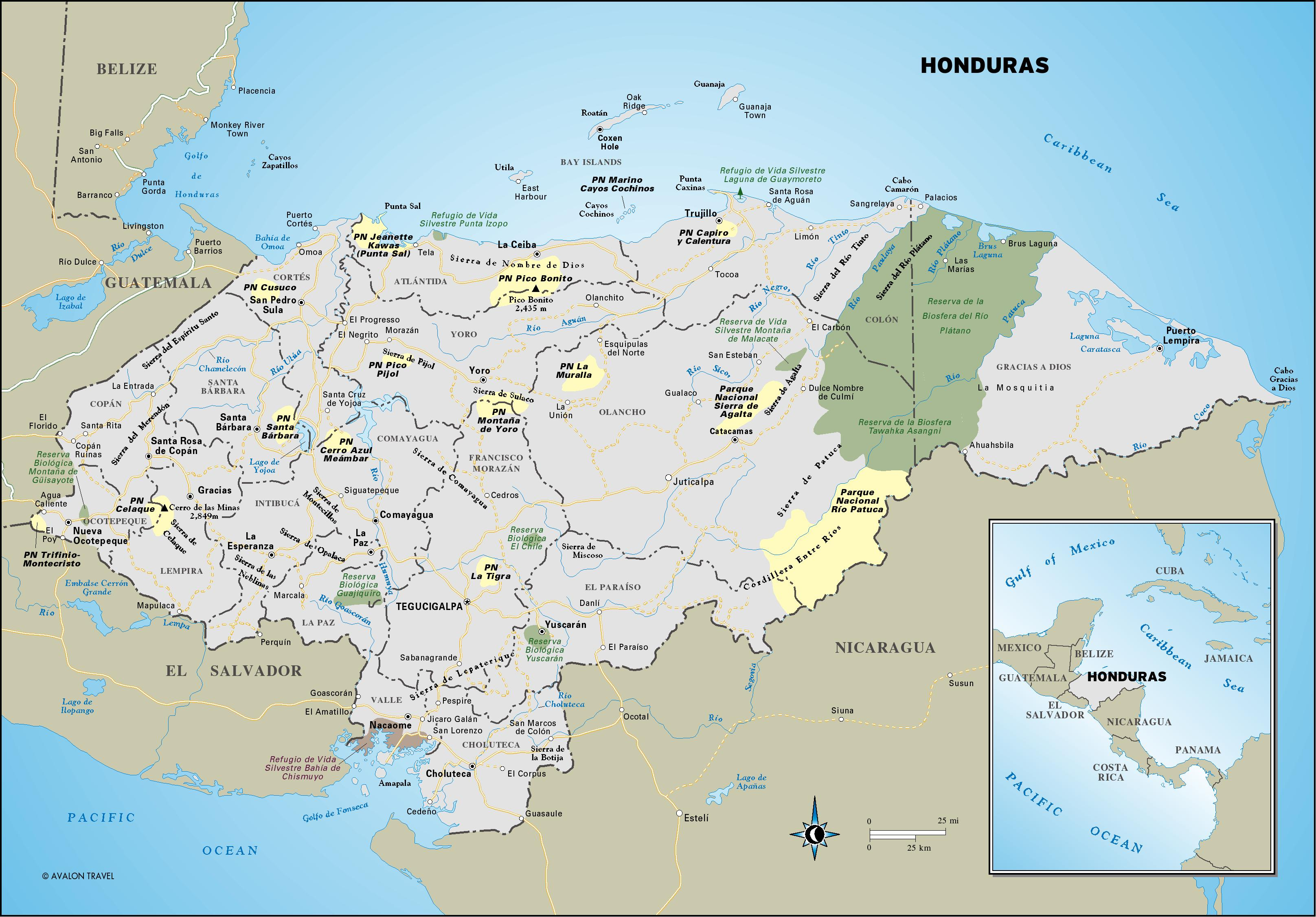 Maps of Honduras Map Library Maps of the World