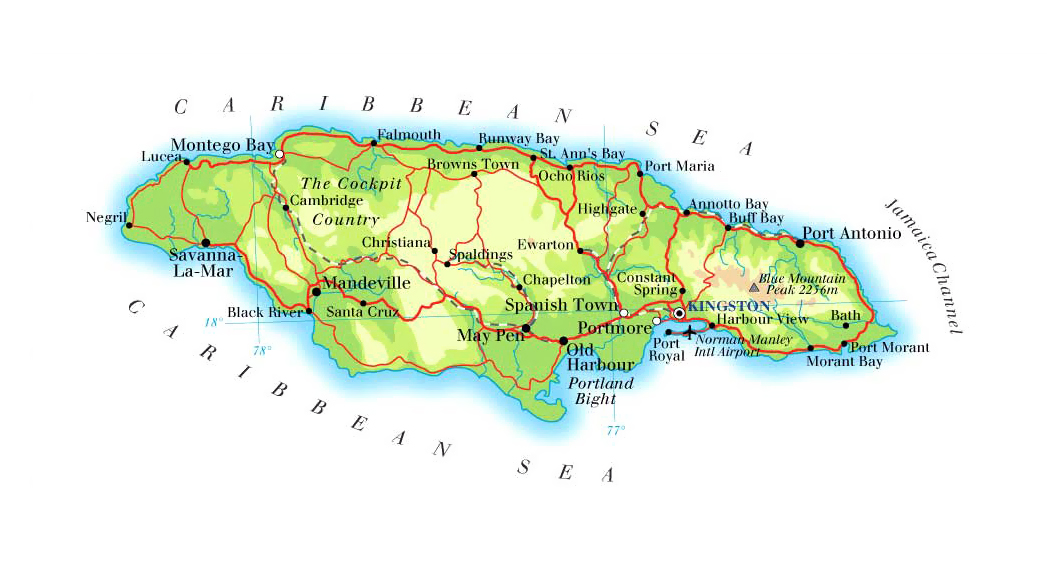 Maps of Jamaica | Map Library | Maps of the World